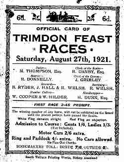 Trimdon Feast Races poster